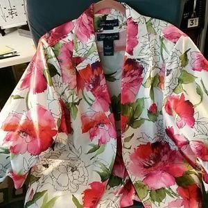 Susan Graver lightweight jacket w/ matching tshirt